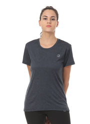 Ultra Breathable Dryfit Sports Tshirt with Mesh Back - Anthra Black - TRUEREVO