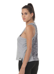 Gym & Training Tank Top Vest with Performance Mesh Back - Grey - TRUEREVO