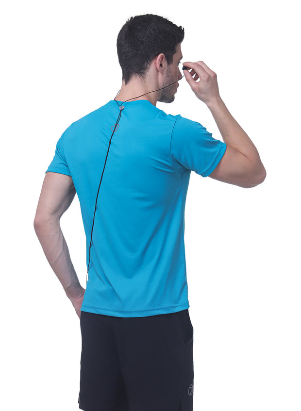 Dry Tech Light Running & Training Tshirt - Blue Teal - TRUEREVO