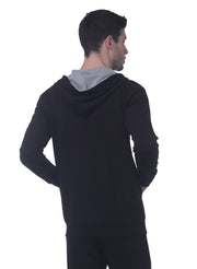 Training & Travel Hoodie Jacket with Zippered Chest Pocket for Men by TRUEREVO - Black - TRUEREVO