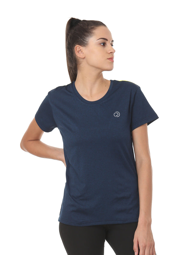 Ultra Breathable Dryfit Sports Tshirt with Mesh Back- Anthra Navy - TRUEREVO