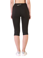 Sports Performance Capri Legging - Black - TRUEREVO