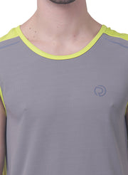 Sports Dry Fit Tank Top Vest for Running & Gym - Grey - TRUEREVO