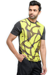 Reflective dryfit tshirt with stylish print  - COAL - TRUEREVO