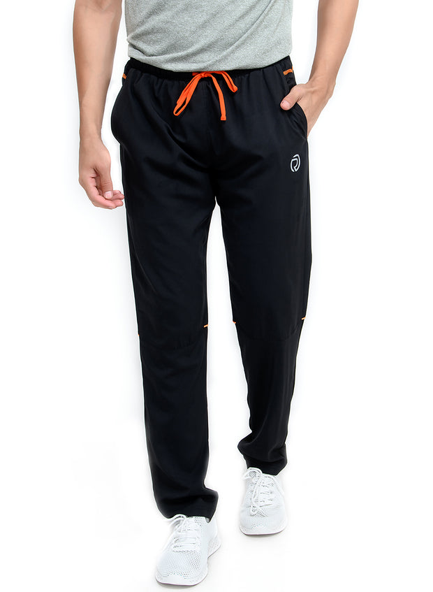 Sports Track Pant with Phone Pocket - Double Layered - BLACK - TRUEREVO