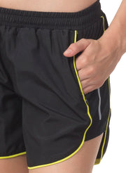 "5"" Running & Sports Shorts with Zipper Side Pockets - Black - TRUEREVO"