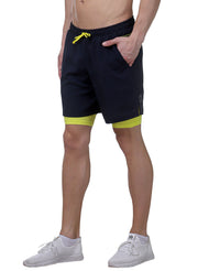 "7"" Shorts With Phone Pocket - Men's Navy Blue - TRUEREVO"