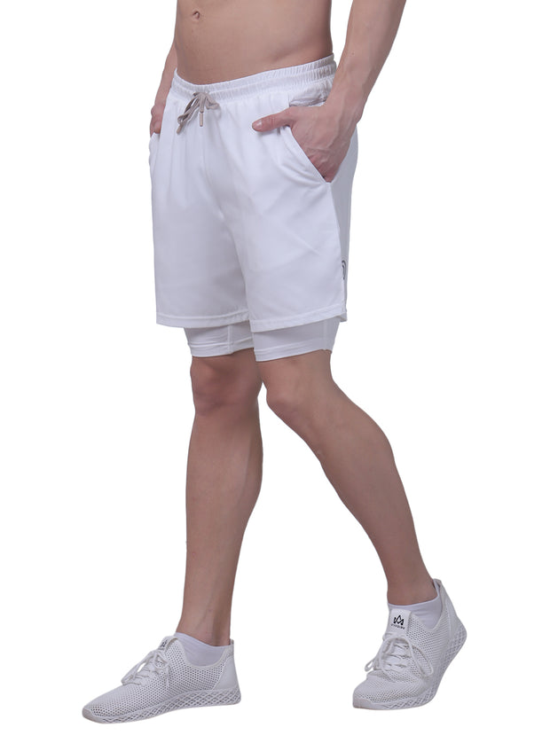 "7"" Shorts With Phone Pocket - The SPS Men's White - TRUEREVO"