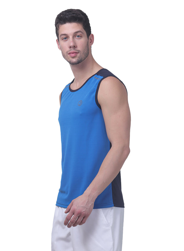 Sports Dry Fit Tank Top Vest for Running & Gym - Blue & Navy - TRUEREVO