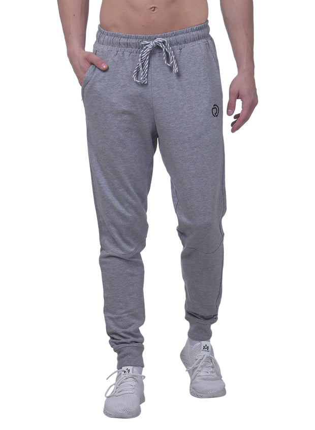 Training & Travel Jogger Pant with 2 side Pockets for Men - Milange Grey - TRUEREVO