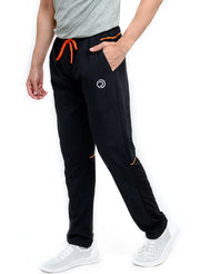Sports Track Pant with Phone Pocket - Double Layered - BLACK