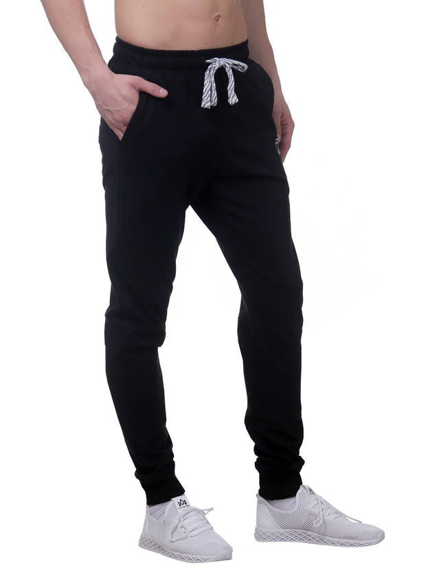Training & Travel Jogger Pant with 2 side Pockets for Men - Black - TRUEREVO
