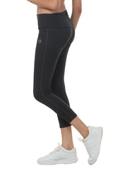 Women's Stretch Dryfit 7/8th Legging with Waist Phone Pocket - Graphite Grey - TRUEREVO