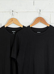 Men's Premium Cotton Tshirts (Pack of 2- Black,Black) - NITLON * TRUEREVO