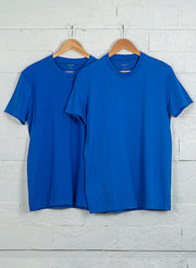 Men's Premium Cotton Tshirts (Pack of 2- Blue,Blue) - NITLON * TRUEREVO