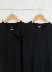 Women's Slim Fit Premium Cotton Tshirts (Pack of 2- Black, Black) - NITLON * TRUEREVO