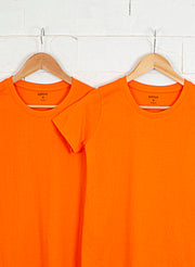 Women's Slim Fit Premium Cotton Tshirts (Pack of 2- Orange, Orange) - NITLON * TRUEREVO