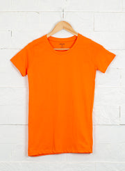 Women's Slim Fit Premium Cotton Tshirts (Pack of 2- Orange, Pink) - NITLON * TRUEREVO