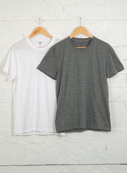 Men's Premium Cotton Tshirts  (Pack of 2- White,Grey) - NITLON * TRUEREVO