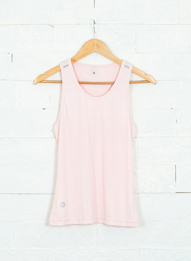 Women's Light Dryfit Racerback Tank with Reflective details - Light Pink