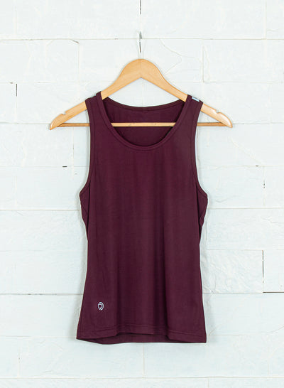 Women's Light Dryfit Racerback Tank with Reflective details - Maroon