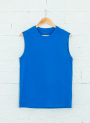 Men's Sleeveless pure cotton tank- Royal Blue