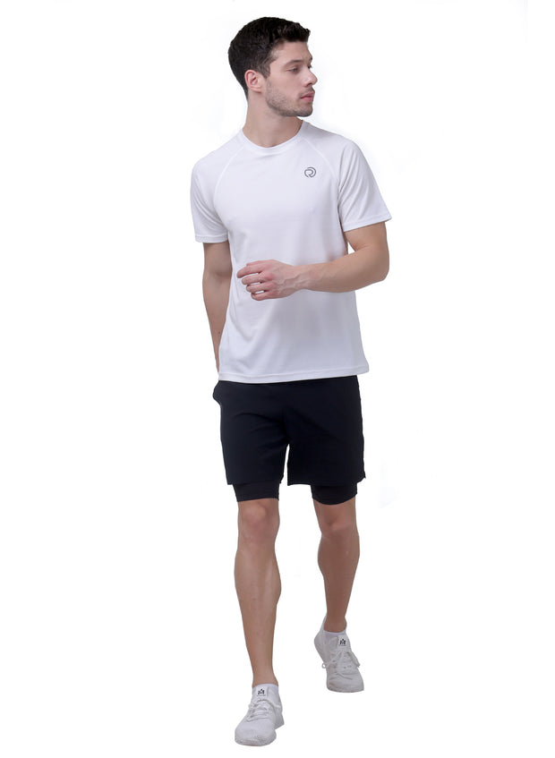 Ultra Light Dryfit Running & Training T-shirt - Men's White - TRUEREVO