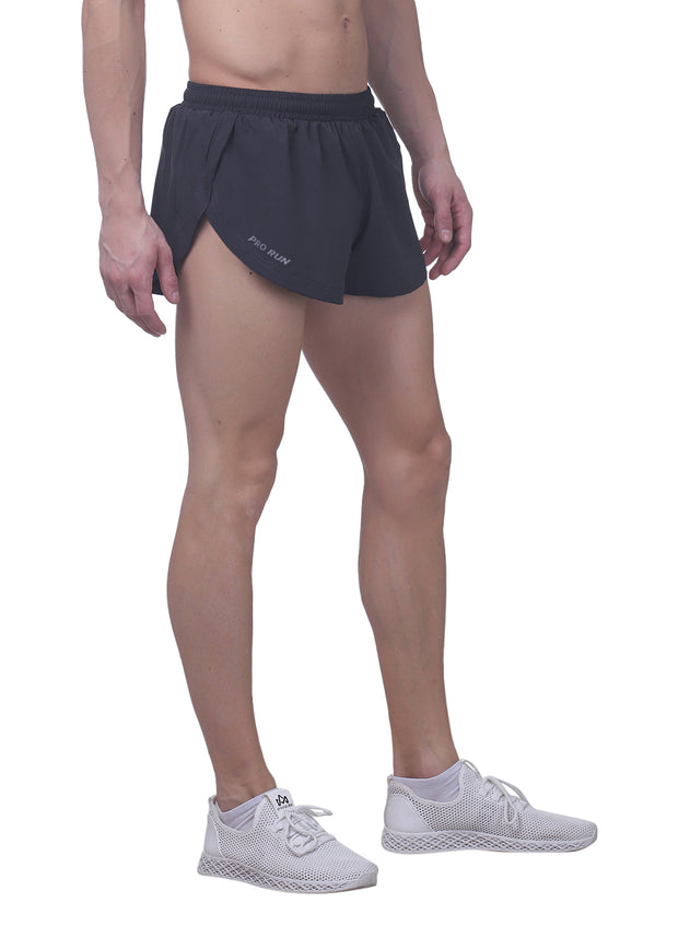Professional Running Shorts with inner brief & key pocket - Coal