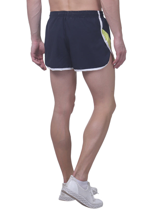 Professional Running Shorts with inner brief & key pocket - Navy/Cht - TRUEREVO