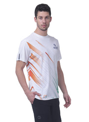 Men's Reflective dryfit tshirt with flow graphics - White - TRUEREVO