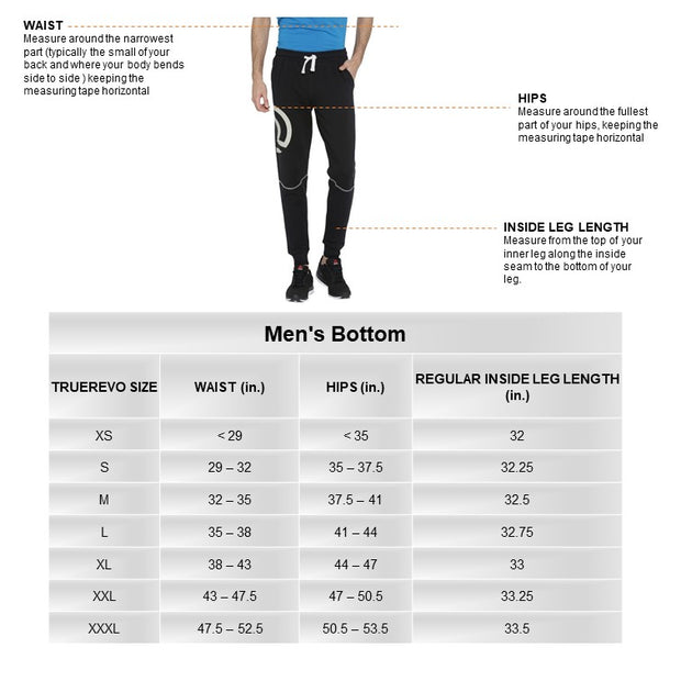 Men's Track Pant With Zippered Side Pockets - Black - TRUEREVO