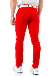 Red Golf Trouser Fabric