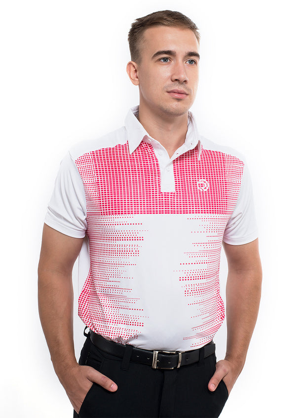 Golf Poly-Printed Spandex High Fashion Collar T-shirt - TRUEREVO