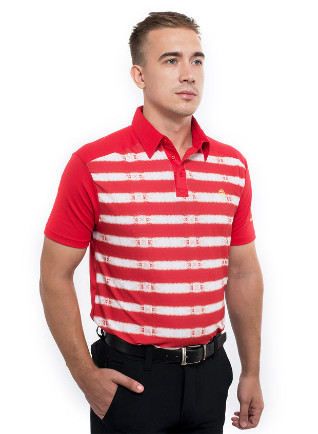 Men's Stretchy Golf T-shirt With Collar