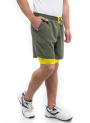 "7"" Shorts With Phone Pocket - Men's Military Green"