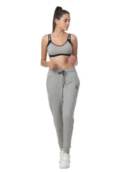 Training & Travel Jogger Pant with 2 Zippered side Pockets - Grey - TRUEREVO