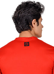 Performance Golf & Sports Henley Tshirt for Men - Red