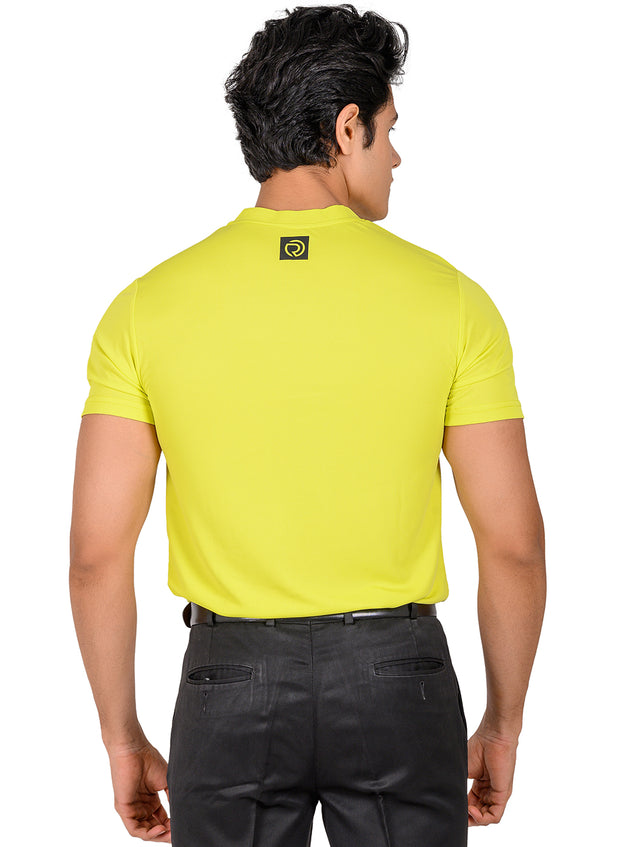 Performance Golf & Sports Henley Tshirt for Men - Yellow
