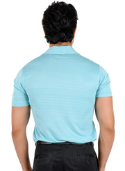Dryfit Textured Sports & Golf Tshirt for Men - Firozi