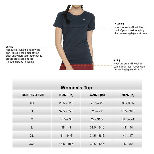 TRUEREVO WOMEN'S  RUNNING BASIC T-SHIRT - DARK ANTHRA - TRUEREVO
