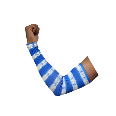 Sports Arm Sleeve (Pack Of 2) Printed Blue