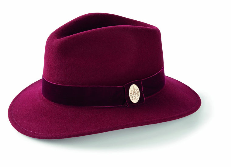 The Chelsworth Fedora in Maroon
