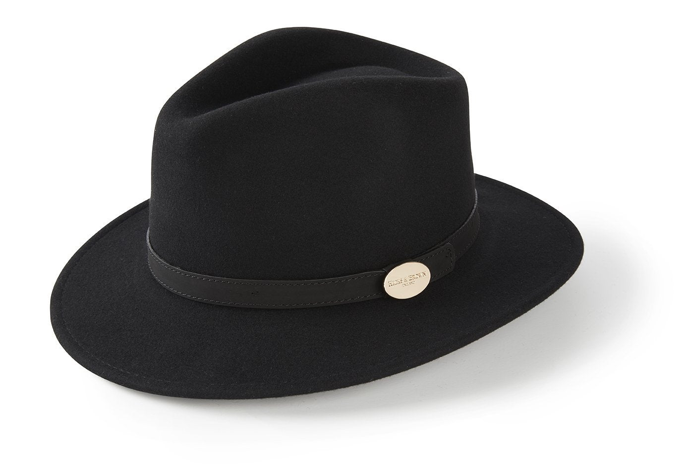 Hicks & Brown Fedora The Suffolk Fedora in Black (No Feather)