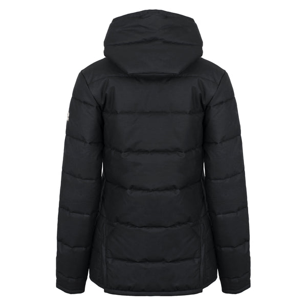 Hicks & Brown The Newmarket Dry Wax Jacket (Black)