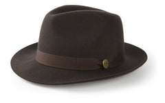 Hicks & Brown Trilby The Thurlow Trilby in Brown (No Feather)