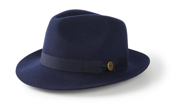 Hicks & Brown Trilby The Thurlow Trilby in Navy (No Feather)