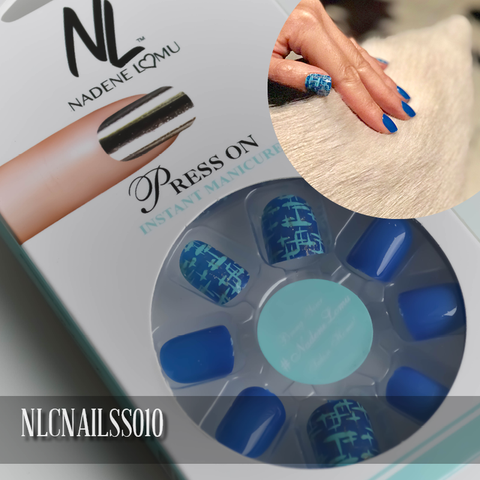 NLC Press On Manicure Mixed Design Style SS010