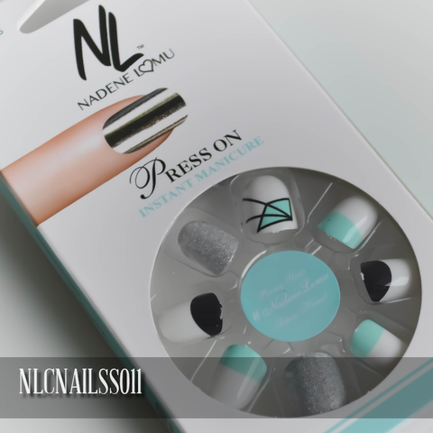 NLC Press On Manicure Mixed Design Style SS011