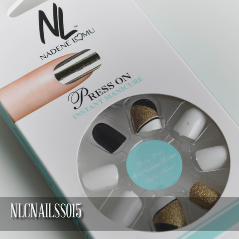 NLC Press On Manicure Mixed Design Style SS015