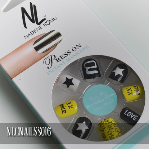 NLC Press On Manicure Mixed Design Style SS016